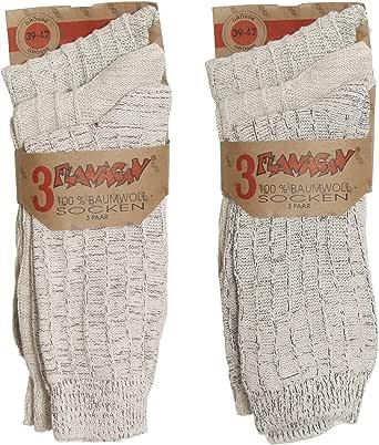 Brubaker - Lote de 6 calcetines bio para hombre, 100% algodón Socken meliert 39-42: Amazon.es: Ropa y accesorios