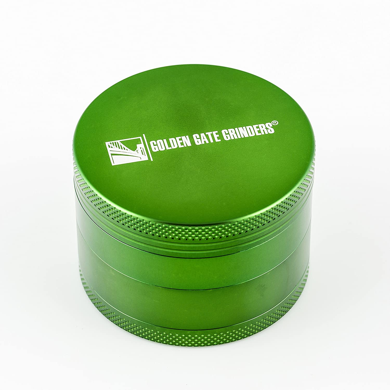 ゴールデンゲートGrinder 2.5インチ究極Herb Grinder 4-piece陽極酸化アルミニウム Large (2.5-Inch) グリーン GGG-63mm-4pc-Green B010FOCNGO  グリーン Large (2.5-Inch)