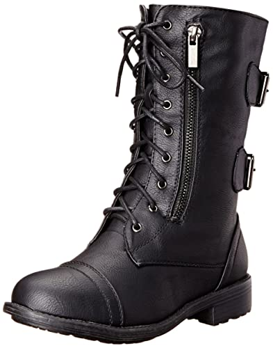 Amazon.com | Top Moda Women's Pack-72 Lace Up Combat Boot | Mid-Calf