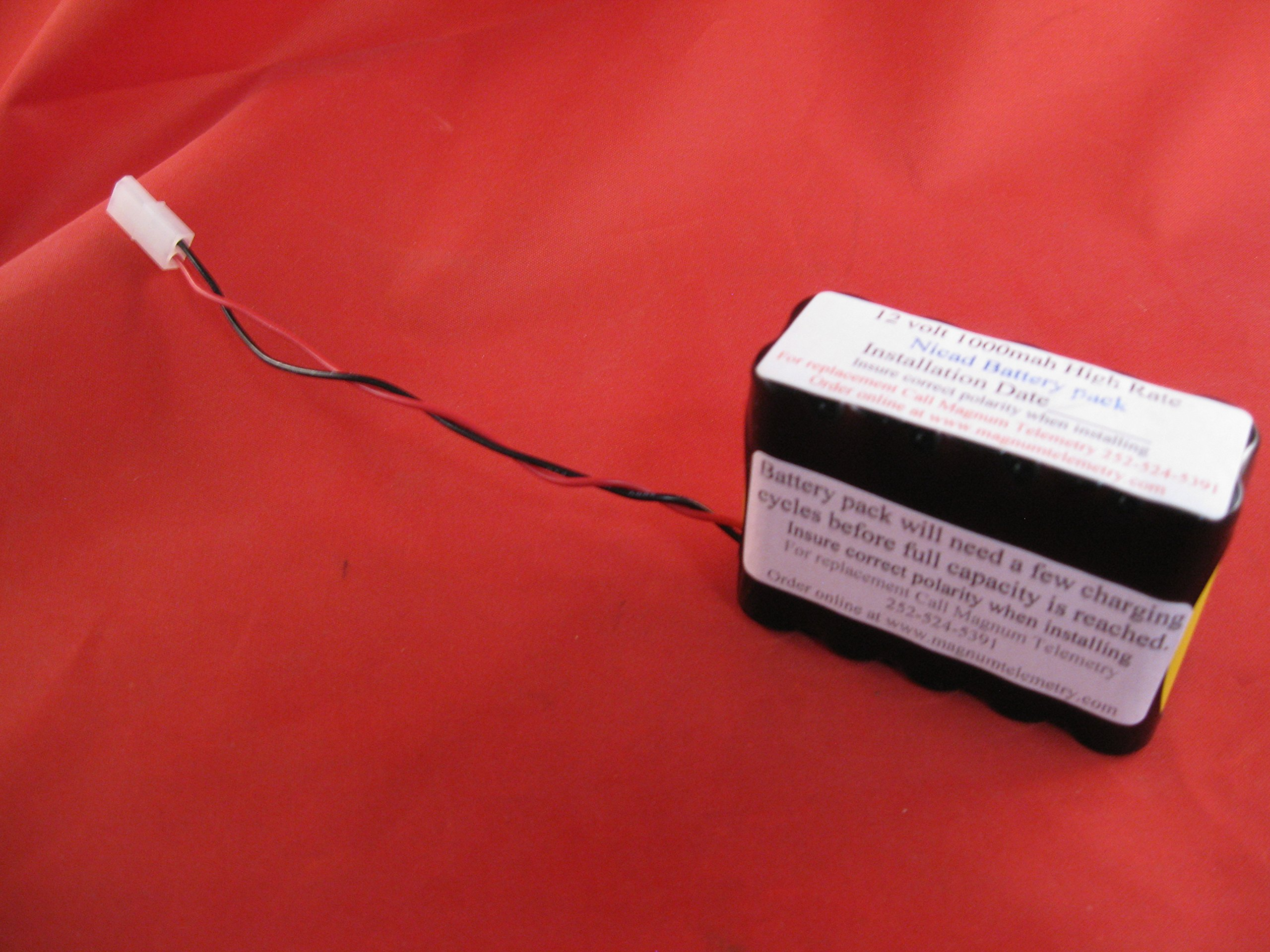 Battery Pack Wildlife Materials TRX10s 10 channel 12 volt 1000mah high rate