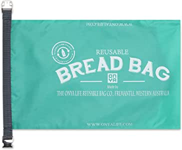 NEW ONYA REUSABLE BREAD BAG Baguette Loaf Roll Bag Keeper 41 x 25 x 10cm