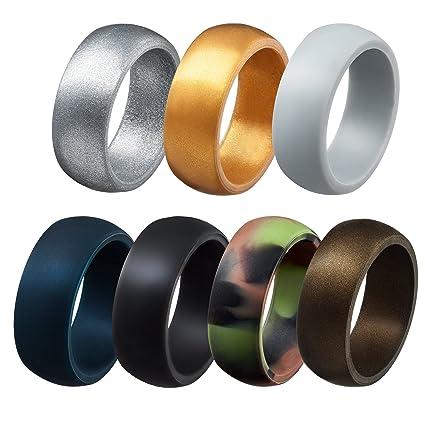 Amazoncom Silicone Wedding Rings for Men Affordable Wedding
