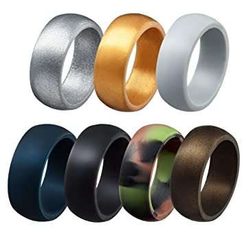qringz silicone wedding rings for men everyday wedding bands for active lifestyle sports - Sports Wedding Rings