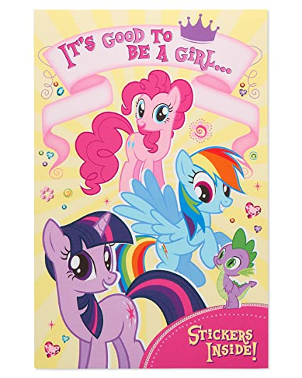 Amazon American Greetings My Little Pony Birthday Card For