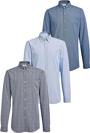 next Hombre Pack De Tres Camisas De Corte Estándar con Cuello ...