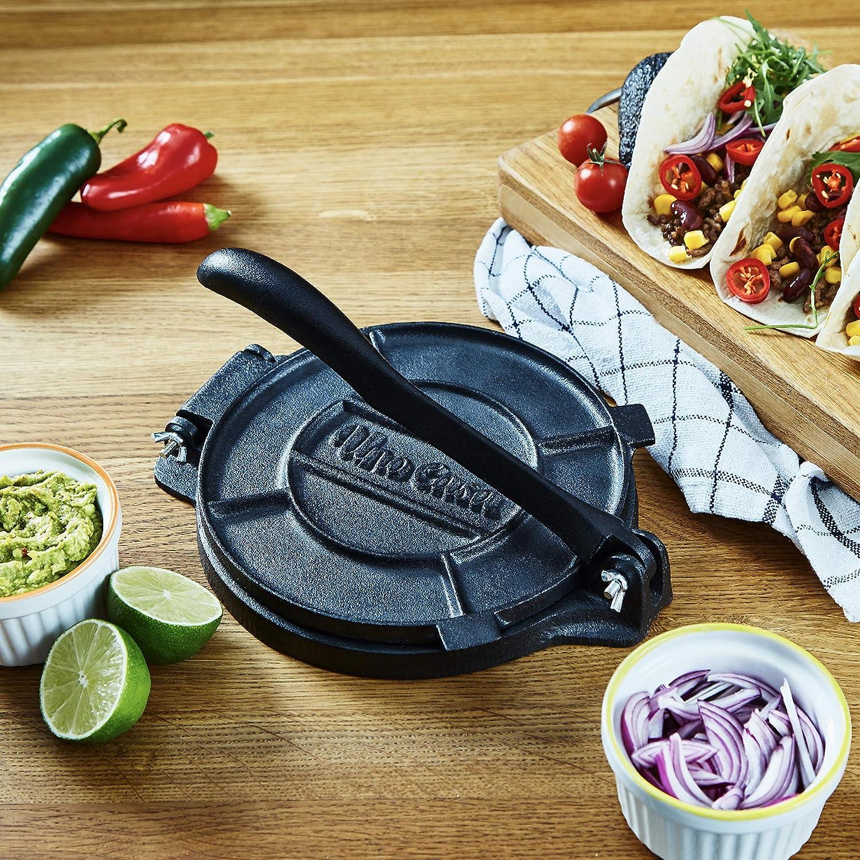 Amazon.com: Uno Casa - Prensa de tortilla de hierro fundido ...