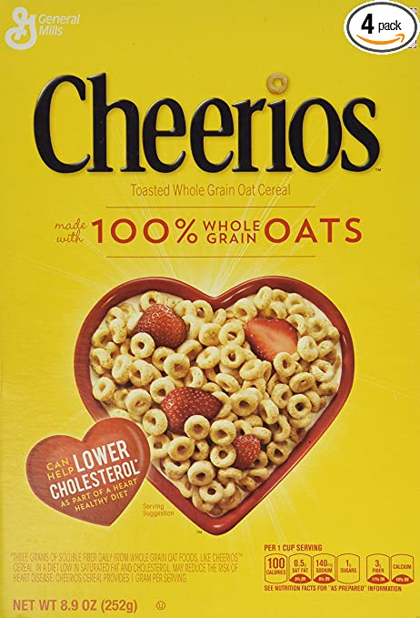 cheerios cereal 8 9 ounce boxes pack of 4 packaging may vary