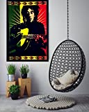 "ANJANIYA Bob Marley Beautiful Bohemian Room Dorm Decor Hippie Small Boho Rasta Tapestry Poster Size 40""x30"" Psychedelic Reggae Tapestries Wall Art Hanging Cotton Gypsy Posters (Bob Marley Guitor)"