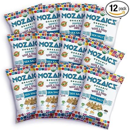 Mozaics Organic Popped - Chips de verduras y patatas: Amazon ...