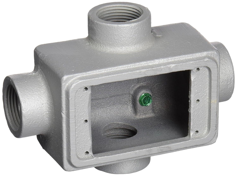 Appleton FDX-1-100 Cast Device Box, FDX, Malleable Iron, 1 Gang, 1 Hub by Appleton B00JV3DGG2