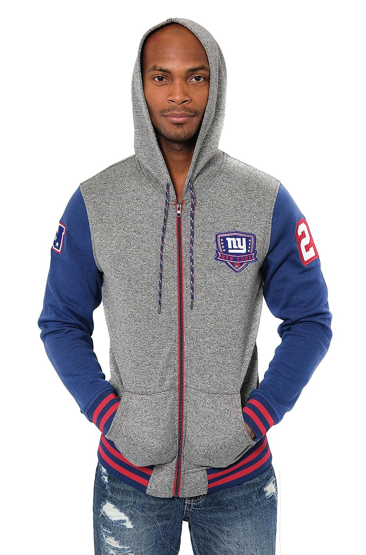 blueee Medium NFL mens Full Zip Fleece Hoodie Letterman Varsity Jacket
