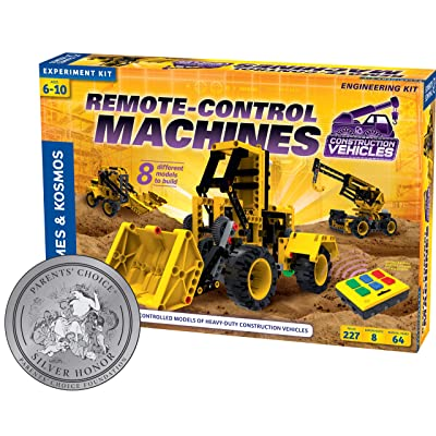 Thames & Kosmos Remote-Control Machines: Construction Vehicles | Science & Engineering Experiment Stem Kit | Build 8 Real Working Models | Parents' Choice Silver Award Winner |Astra Best Toys for Kids: Toys & Games