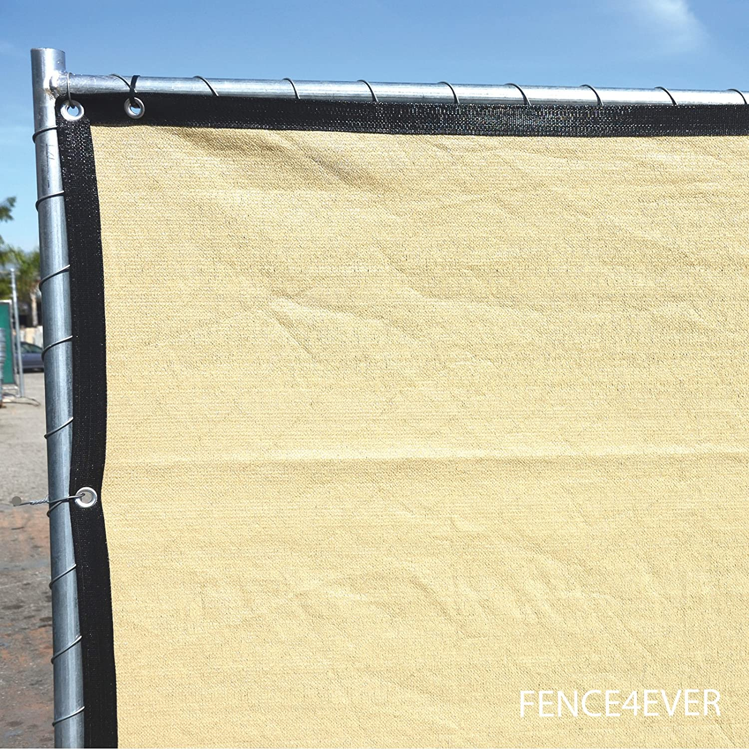 Great Amazon.com : Fence4ever 6u0027x25u0027 3rd Gen Tan Beige Fence Privacy Screen  Windscreen Shade Cover Mesh Fabric (Aluminum Grommets) Home, Court, Or  Construction ...