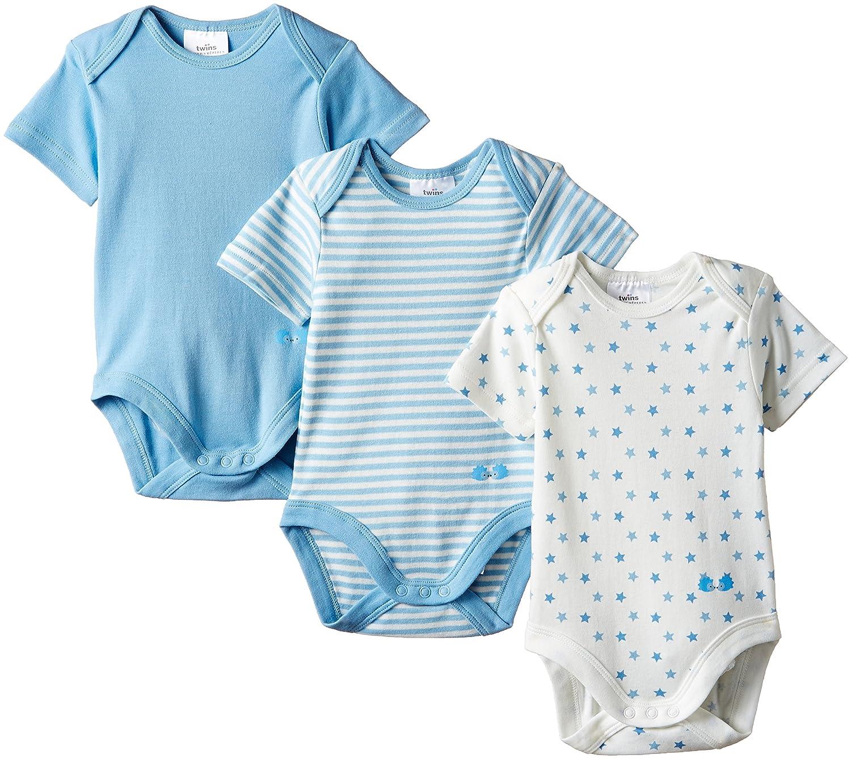 Twins Baby Jungen Kurzarm Body im 3er Pack Julius Hüpeden GmbH 101905