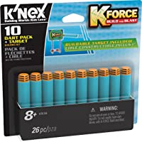 (10 Dart Pack & Target) - Boy, Children, Boys, Kids, Child - Latest New Toy Engineering Set K Force 10 Dart Pack & Target - Stocking Filler, Xmas, Present, Christmas Gift, Fun Games & Toys Idea Age 8+