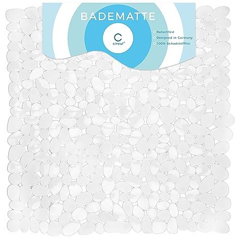 Circul Badewannenmatte 70 x 35 cm blau Steinoptik modern