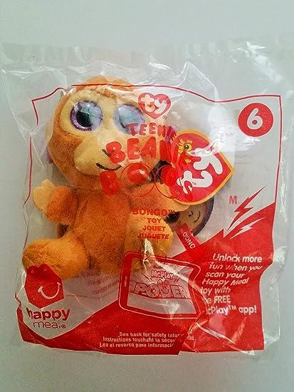17e180526fb Amazon.com  McDonald s Teenie Beanies Boo s 2017   6 Bongo TY Happy Meal Toy   Toys   Games