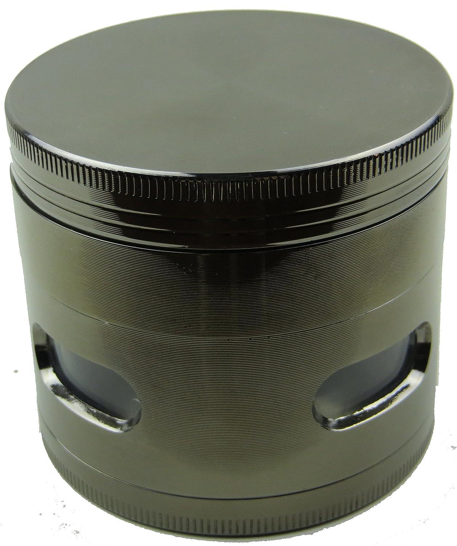 New Design Premium Herb Grinder 2.2 Inches 4 Piece with Pollen Catcher Durable Zinc Alloy Tobacco Grinder Spice Grinder Gunmetal