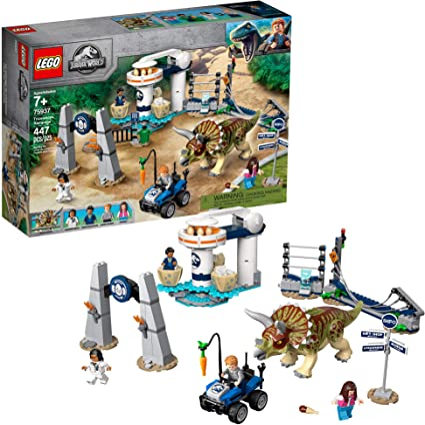 Amazon.com: LEGO Jurassic World Triceratops Rampage 75937 ...