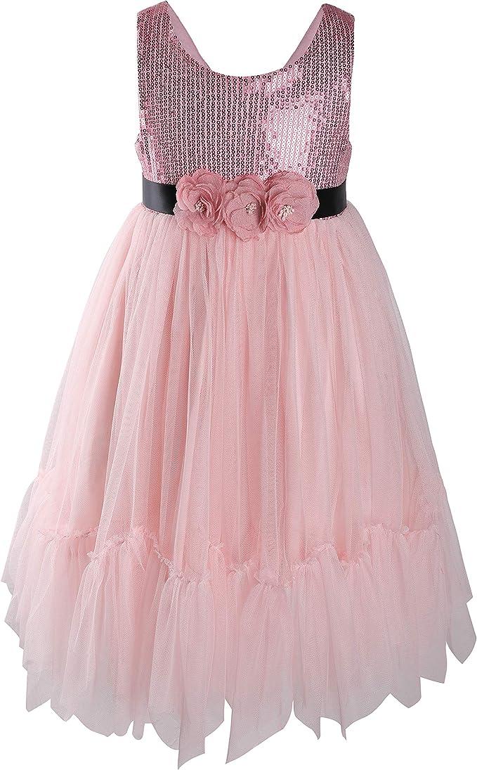 Amazon.com: Flofallzique vestido de flores para niñas con ...