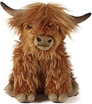Living Nature Soft Toy, Plush Highland Cow, Farm Animals, Cattle 30cm with Sound Unknown