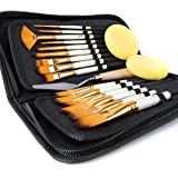 Artify 15 pcs Paint Brush Set for Acrylic Oil Watercolor Gouache Painting includes Pop-up Carrying Case with Palette…