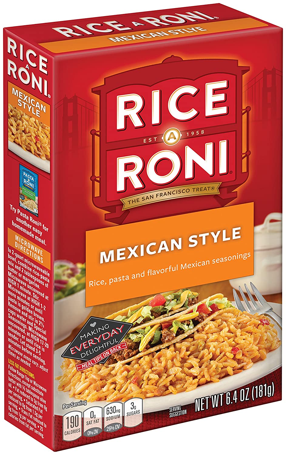 Amazon rice a roni mexican style pasta and rice mix 64 amazon rice a roni mexican style pasta and rice mix 64 oz pack of 12 boxes wild rice produce grocery gourmet food ccuart Image collections