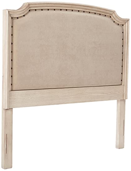Pleasing Ashley Furniture Signature Design Demarlos Panel Headboard Queen Size Component Piece Includes Headboard Only Parchment White Home Interior And Landscaping Ferensignezvosmurscom