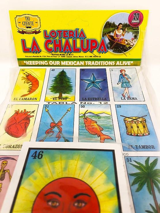 Amazon Com La Chalupa S Loteria Mexican Bingo Board Game By Tio Chente Toys Games