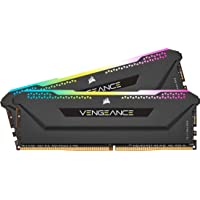 Corsair Vengeance RGB PRO SL 16GB (2x8GB) DDR4 3600Mhz C18 Black Heatspreader Desktop Gaming Memory