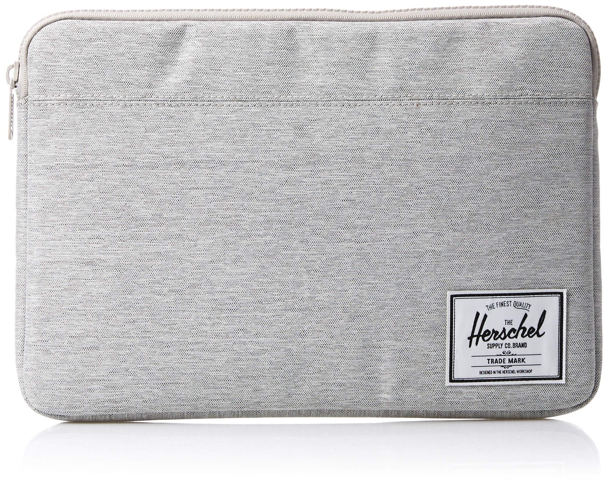 Herschel Supply Co. Men's Anchor Sleeve for 13 inch MacBook, light grey crosshatch, One Size