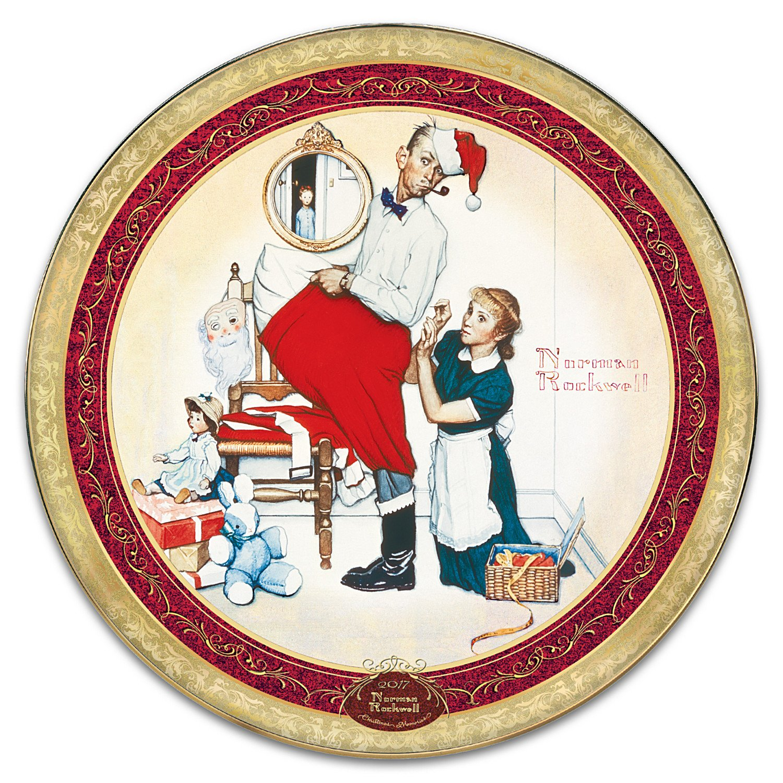 Amazon.com: Norman Rockwell 2017 Annual Heirloom Porcelain Christmas ...