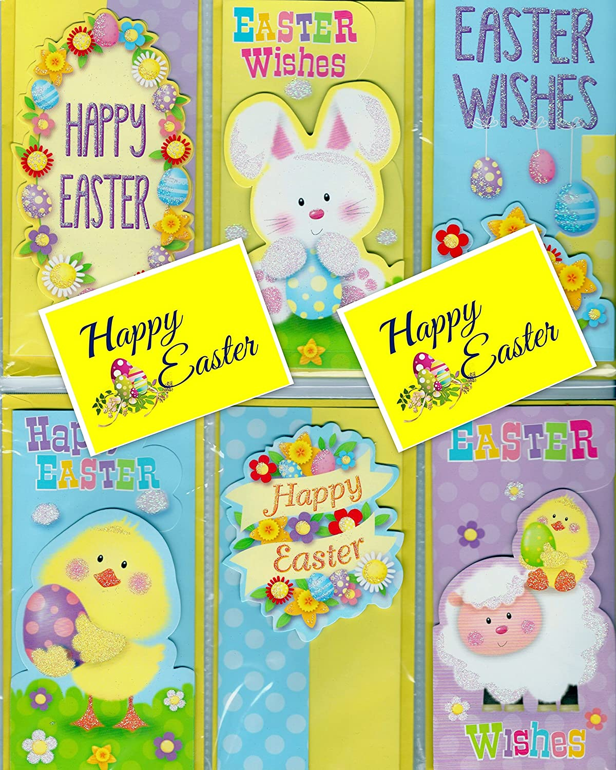12 handmade style 3d easter gift cardmoney wallet with 12 12 handmade style 3d easter gift cardmoney wallet with 12 colourful gift tags and envelopes amazon kitchen home negle Choice Image