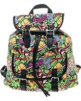Tmnt Teenage Mutant Ninja Turtles Allover Knapsack Backpack
