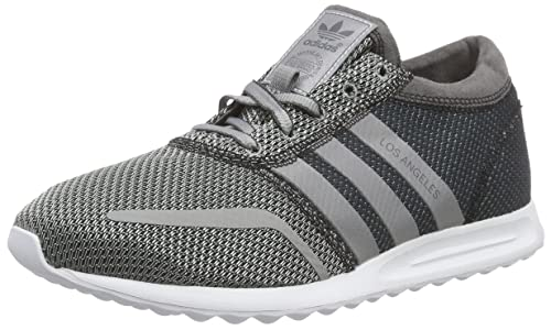 sports shoes c3882 7d7a8 adidas Originals Men s Los Angeles Grey, Silver and White Sneakers - 12 UK   Buy Online at Low Prices in India - Amazon.in