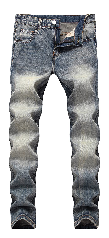 FREDD MARSHALL Men's Skinny Slim Fit Stretch Straight Leg Fashion Jeans Pants FFMBY004