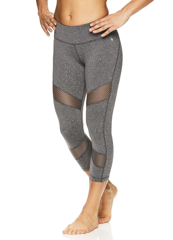 d2bd522d6525 Nicole Miller Active Women's Persephone Printed Capri Leggings -  Performance Activewear Workout Pants at Amazon Women's Clothing store: