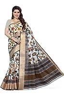 Rani Saahiba Women's Poly Cotton Saree (Multicolor)