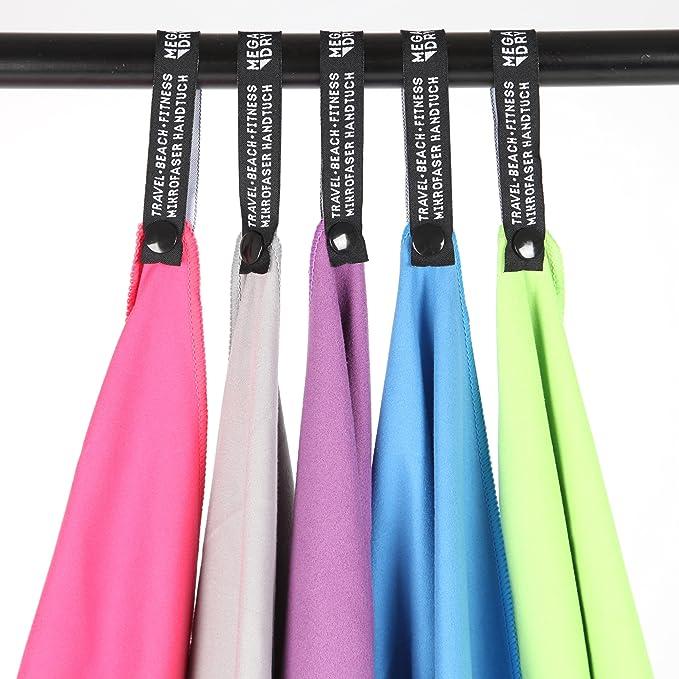 toalla de viaje de secado super r/ápido toalla de fitness en 5 colores toalla de ba/ño absorbente Toallas de microfibra MEGA DRY de la marca Ocean5 75 x 130 cm con bolso de red pr/áctico