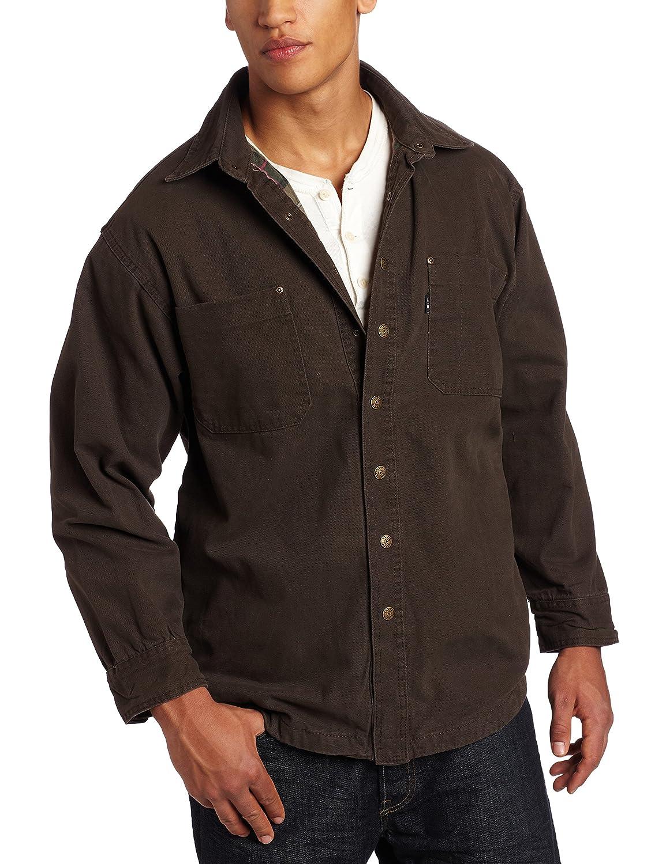 Key Apparel Men's Flannel Lined Duck Shirt Jacket 554