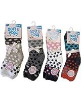 4 Pair Soft Warm Microfiber Fuzzy Crew Socks Soft and Cozy