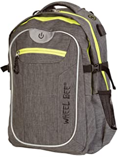 f54d0a85635d5 Wheel-Bee Backpack Revolution - Two Tone Grey Daypack 46x32x20 cm