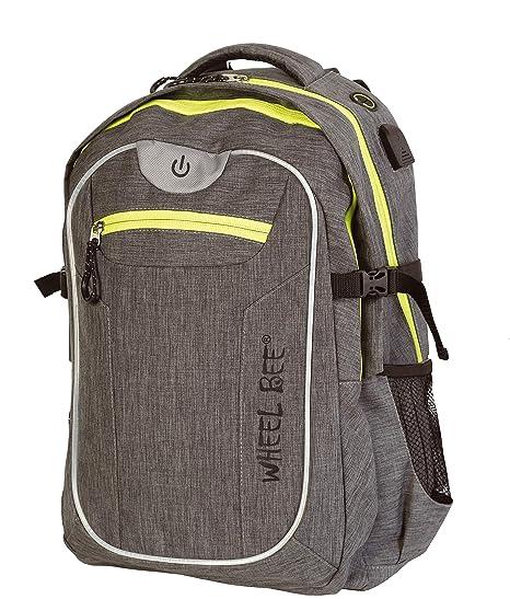 29b2961c92145 Wheel Bee BACKPACK Revolution - two tone Grey   950022  Amazon.co.uk   Luggage