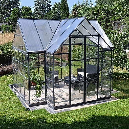 Palram – Invernadero de aluminio Victory, 305 x 365 x 269 cm (l x an x al), invernadero para tomates: Amazon.es: Jardín