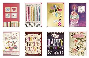 Amazon birthday cards assorted handmade embellished cards box birthday cards assorted handmade embellished cards box set bulk assortment for her birthday 8 piece bookmarktalkfo Gallery