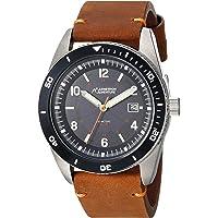 Armitron Adventure 中性款 AD/1002NVSVBN 太阳能日期功能表盘棕色皮革表带手表