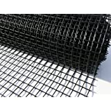 Plastic Garden Fencing 1m x 10m Black 20mm Clematis Netting Mesh - Ideal for Plant, Pet, Vegetable Protection and Climbing Plant Support Net