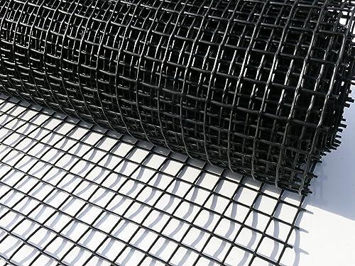 Plastic Garden Fencing 1m X 25m Black 20mm Holes Clematis