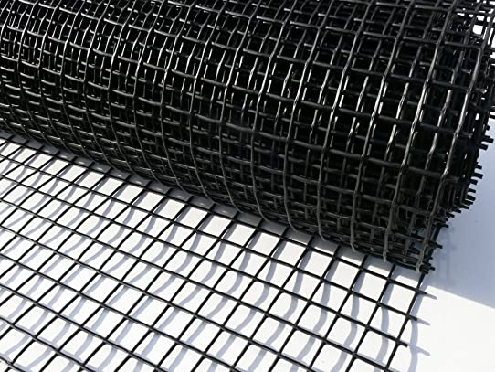 Suregreen Grillage en plastique pour clôture Noir 1 x 10 m Trou 25 ...