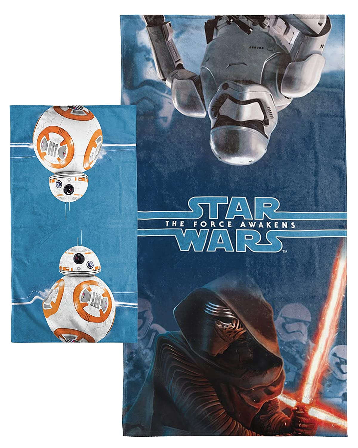 Star Wars Ep7 Battle Front 2 Piece Cotton Bath/Hand Set Jay Franco and Sons Inc. JF37068JFL